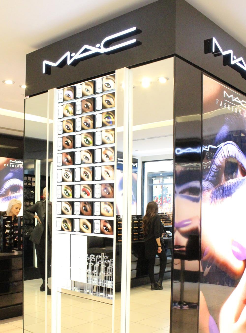 MAC cosmetics counter