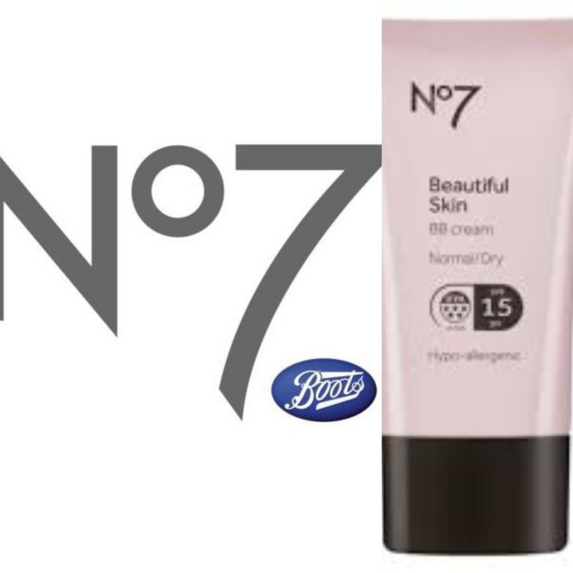 No 7 logo and B B cream