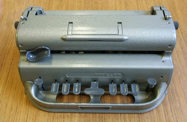 Picture of a Perkins Braille machine