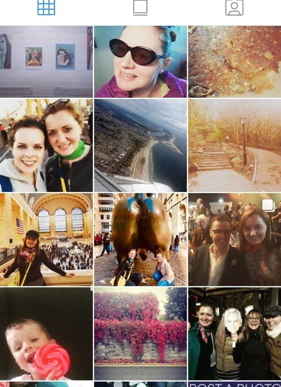 Screengrab of my Instagram grid.